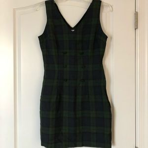Vintage 90's plaid jumper dress.